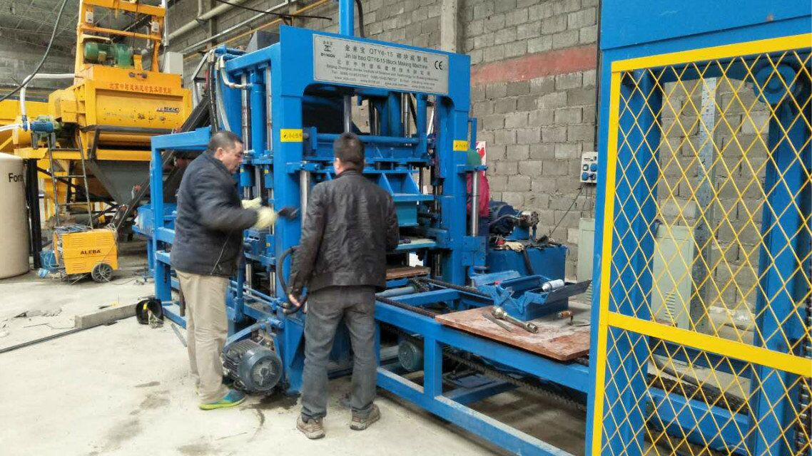 ZCJK block making machine in Argentina