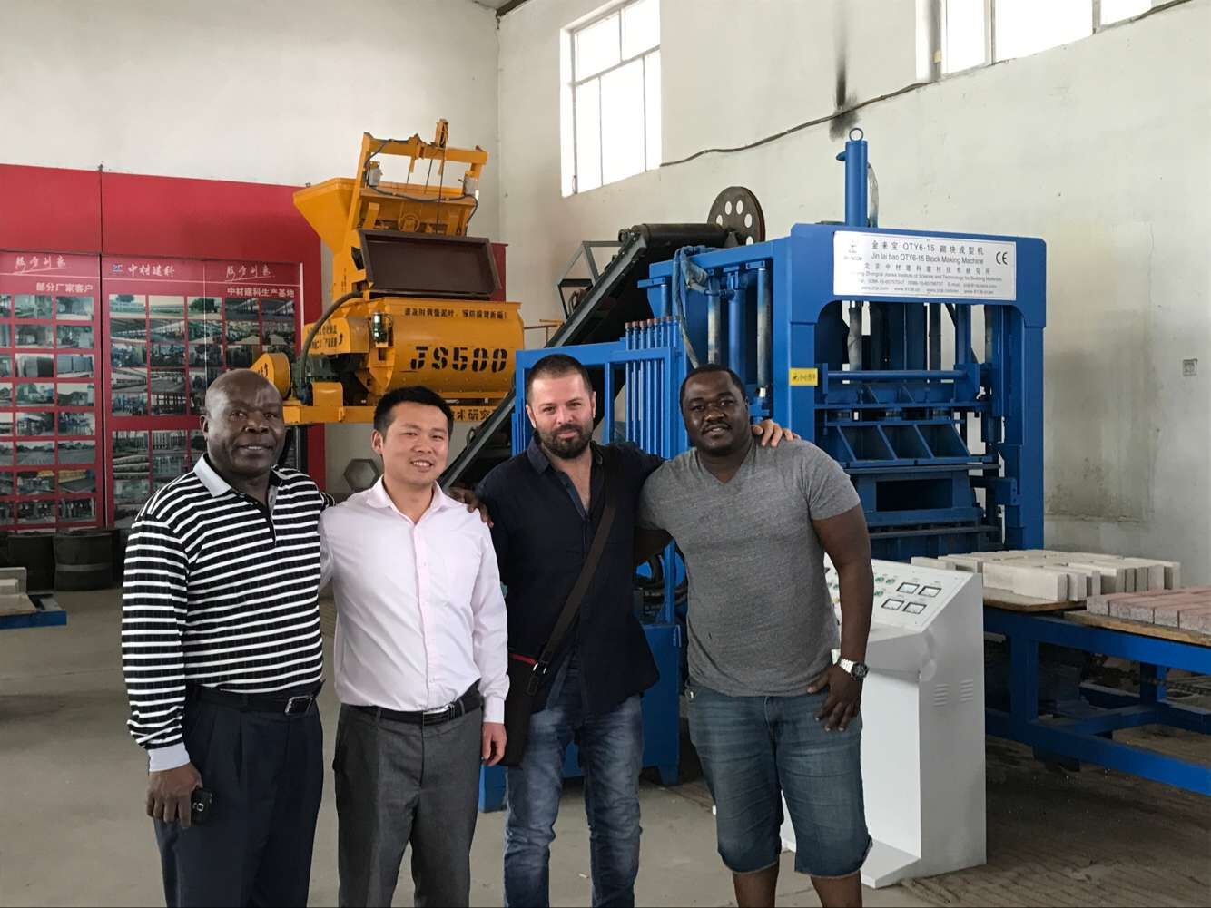 ZCJK block making machine Customer in Uganda Embassy
